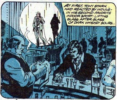 Iron Man gets drunk at the bar