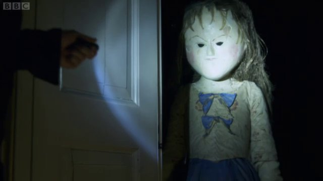 The evil blank-faced doll thing is coming to get you!