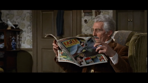 Doctor Who reads Eagle comic, from which Terry Nation nicked many of his ideas