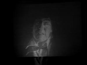 The Time Lords even watch the Doctor's regeneration on a screen.