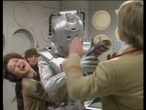A gun, a Cyberman, and the Doctor surrendering while the companions do all of the work. These are a few of Eric Saward&#039;s favourite things...