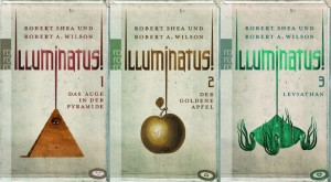 All images here are covers of different editions of the Illuminatus! trilogy