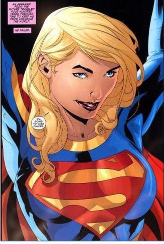 Supergirl stretching