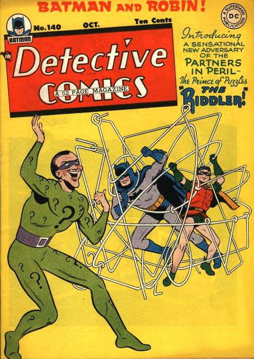 the first appearance of the riddler