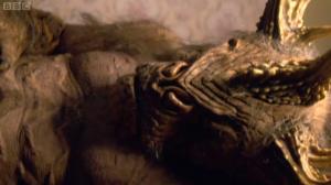 A minotaur, dying