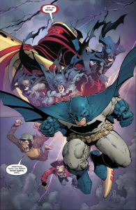 The solution turns out to be more Batmen, I guess? This has too little to do with The Wild Hunt and too much to do with Final Crisis and Multiversity - again, it reduces what has been effective elsewhere to something that has been learned and can now be mass produced. Your feelings will surely follow.
